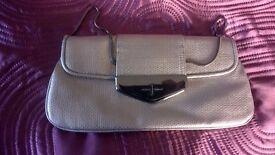 Designers at Debenhams Jasper Conran silver clutch bag - excellent condition