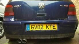 Gttdi Golf mk4 blue rear bumper