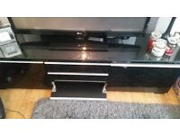 Black tv bench with above storage unit IKEA £180 ONO