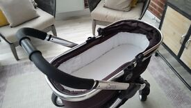 I - CANDY PEACH BLACK JACK PRAM BASE AND PUSHCHAIR WITH ADAPTORS FOR CAR SEAT