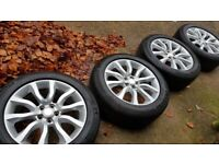 "4x 20"" Range Rover alloy wheels 255/55R20 Michelin tyres - Land Rover Discovery – RRP £2,480"