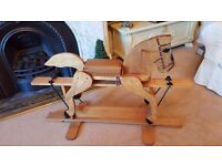 solid oak rocking horse