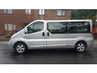 Renault traffic 2008 8 seater minibus still with taxi plate in Rochdale until May 19