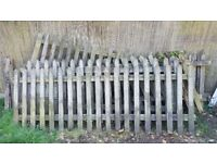 Picket fence (weathered) 7 off 3ft x 9ft