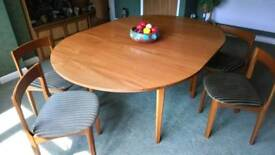 Furniture, table and chairs
