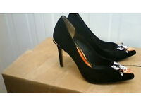 WOMENS TED BAKER SUEDE BLACK SIZE 5 SHOES