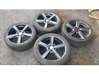 """4x 17"""" alloy wheels (5x100) - chrysler seat skoda subaru toyota volkswagen"""