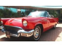 FORD THUNDERBIRD 1957, 2 DOOR CONVERTIBLE, HIGHLY COLLECTABLE CLASSIC ORIGINAL CAR