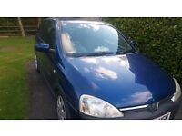 Vauxhall Corsa 1.2. Very low mileage for age. FSH.