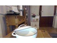 beautiful cream ceramic dish