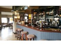 Experienced bar staff and kitchen assistance