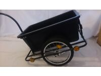 BIKE TRAILER WITH COUPLING AND PNEUMATIC TYRE 90L CARGO
