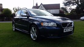 **12 MONTHS MOT** 2007 VOLVO V50 R-DESIGN SPORT 5 DOOR ESTATE **FULL HISTORY+TIMING BELT CHANGED**