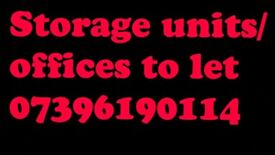 Storage Units offices secure parking 2 bedroom flat to let/rent