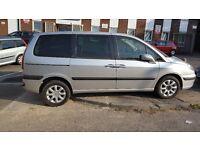 PEUGEOT 807 hdi 7 seats mpv NEW MOT,new tyre16 alloys,non smoking interiior(c8)quick sale low price