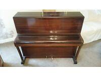 Broadwood white upright piano mahogany