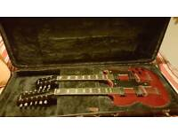 Epiphone G-1275 double neck with OHSC.