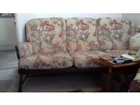 Furniture - Ercol Windsor 3 seater and 1 chair immaculate