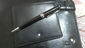 Mont Blanc Wallet with Pen