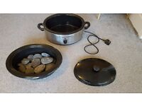 Top Massage Stone Heater 6 Quart Stone Oven and Stones