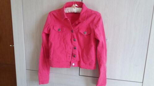 Veste courte rose style jeans taille S