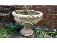 Pair of Victorian terracotta urns in excellent condition with no damage.
