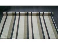 3 metres designer curtain fabric cushion blinds crafts etc cream stripe