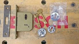 Chubb 5 lever mortice deadlock with 2 keys