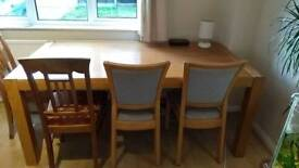 Large solid wood table, good condition (probably oak)