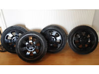 Vauxhall Corsa Alloy Wheels And Tyres 185/55/R15 Black