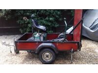 Powakaddy Discovery single seat golf trolley with purpose built trailer