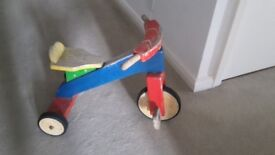 Wooden kids tricycle
