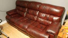 Leather recliner sofas (2 and 3 seater)