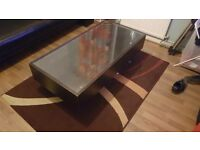 Free. Black coffee table ikea with drawers