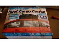 RRP £40 streetwise Cargo roof carrier for cars with rails water resistant roof box roof bars