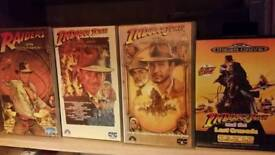 INDIANA JONES. film and Sega megadrive game.