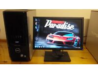 Dell XPS 420 MINECRAFT Quad Core Gaming Desktop Computer PC With Dell 19""