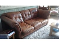 S seater leather sofa
