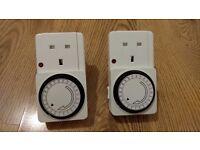 Set of 2 Ikea Plug Timers, Mains Timers. Control Aplliances, Gadgets, Tv's, Lights by Timer Plug