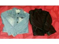 Two girls jackets age / size 6 - 7 and age 7 clothes