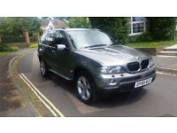 2005 BMW X5 SPORT 3.0 D AUTOMATIC GREY SAT NAV FULL LEATHER FULL SERVICE HISTORY 12 MONTHS MOT