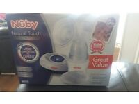 Brand New Nuby Natural Touch Digital Breast Pump