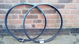 Two 700c x 23c road bicycle tyres