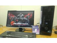 SSD GAMING MINECRAFT Dell XPS Quad Core Desktop Computer PC With Dell ST 22 LCD