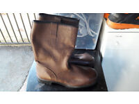 Mens Brown Safety Boots Steel Toe Cap size 9 New