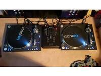 For sale 2 Stanton STR8-150 turntables and Numark mixer.