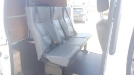 Van Seats x3 - with seatbelts, solid frame, grey, for campervan, crew van, taxi