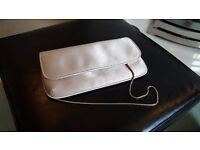Gorgeous Clutch Bag in Champagne/Cream coloured Satin. Used just once - in immaculate condition.