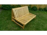 Solid pine double futon base