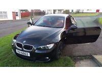 **Black BMW 320d M sport coupe ,red leather** P/X Audi ,VW ,Mercedes